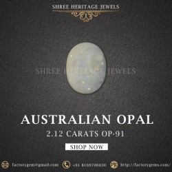 2.12-Carat Beautiful and Natural Opal Oval-Shaped
