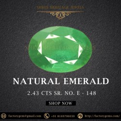 2.43-Carat Oval Shaped Deep Green Emerald from Zambia