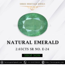 2.65-Carat Oval Shaped  Green Emerald from Zambia