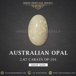 2.87-Carat Beautiful and Natural Oval-Shaped Opal