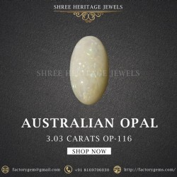 3.03-Carat Beautiful and Natural Oval-Shaped Opal