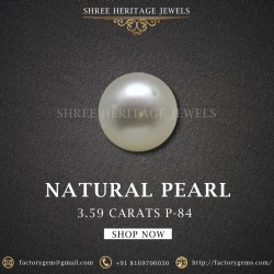 3.59-Carat Beautiful and Natural Creamy White South Sea Pearl