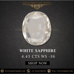 4.43-Carat Oval Natural White Sapphire