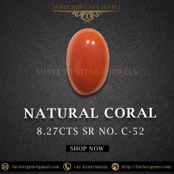 8.27-Carat Natural Coral-Oval