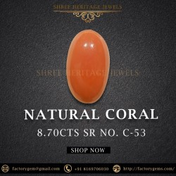 8.70-Carat Natural Coral-Oval