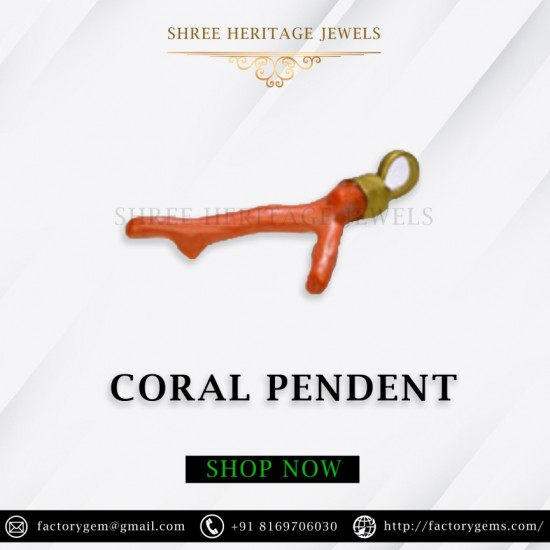 CORAL PENDENT