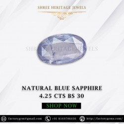 4.25-Carat Natural Unheated Blue sapphire-Oval