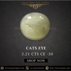 3.21-Carat Natural & Untreated CATS EYE-Oval