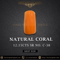 12.15-Carat Red Natural Coral From Italy