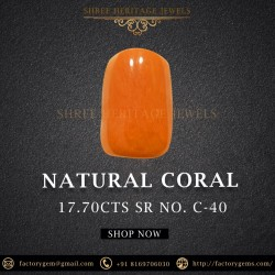 17.70-Carat Orange Red Natural Unheated Coral From Italy