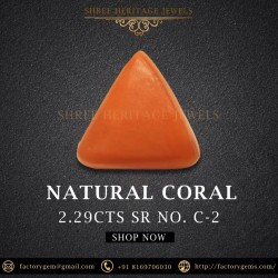 2.29-Carat Natural and Unheated Triangular Coral