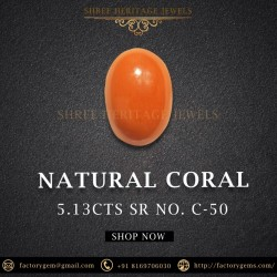 5.13-Carat Natural Orange Red Coral from Italy
