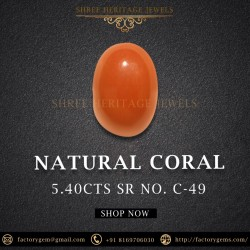 5.40-Carat natural unheated red coral from itlay