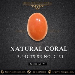 5.44-Carat Natural Coral-Oval