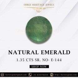 1.35-Carat Round Shaped Green Emerald from Zambia