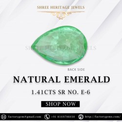 1.41-Carat Pear Shaped Green Emerald from Zambia