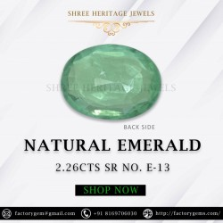 2.26-Carat Oval Shaped Green Emerald from Zambia