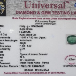 2.28-Carat Oval Shaped Green Emerald from Zambia