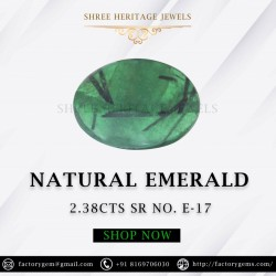 2.38-Carat Oval Shaped Deep Green Emerald from Zambia