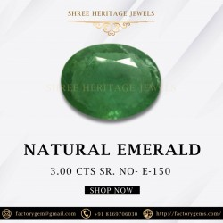 3.00-Carat Oval Green Emerald from Zambia