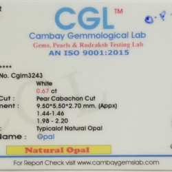 0.67-Carat Beautiful and Natural Opal Oval-Shaped