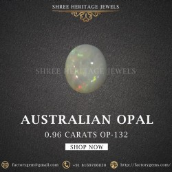 0.96-Carat Beautiful and Natural Opal Oval-Shaped
