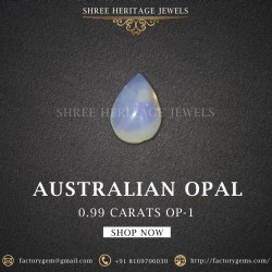 0.99-Carat Beautiful and Natural Opal Oval-Shaped