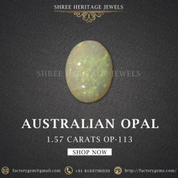 1.57-Carat Beautiful and Natural Opal Oval-Shaped
