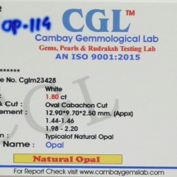 1.80-Carat Beautiful and Natural Opal Oval-Shaped