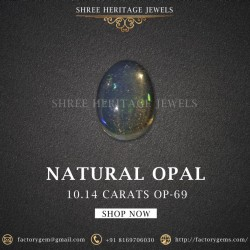 10.14-Carat Beautiful and Natural White Opal