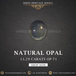 13.29-Carat Beautiful and Natural Oval-Shaped  White Opal