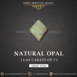 14.04-Carat Beautiful and Natural Untreated Multi Colour Flashes Rhomb Shaped
