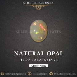17.22-Carat Beautiful and Natural  Oval-Shaped Opal