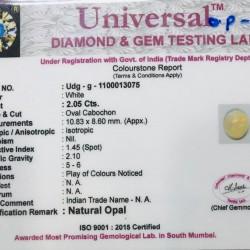 2.05-Carat Beautiful and Natural Opal Oval-Shaped
