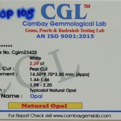 2.39-Carat Beautiful and Natural Multi Colour Flashes PEAR-Shaped OPAL