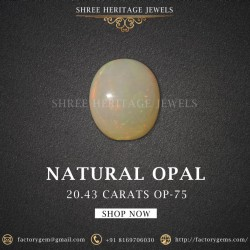 20.43-Carat Beautiful and Natural Oval-Shaped Opal