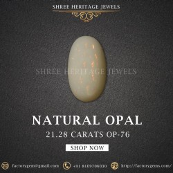 21.28-Carat Beautiful and Natural Oval-Shaped Opal