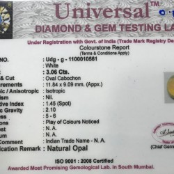 3.06-Carat Beautiful and Natural Opal Oval-Shaped
