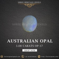 3.08-Carat Beautiful and Natural Opal Oval-Shaped