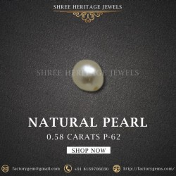 0.58-Carat Beautiful and Natural Creamy White Fancy Pearl