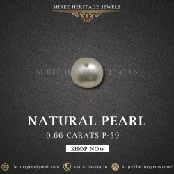 0.66-Carat Beautiful and Natural Creamy White Fancy Pearl
