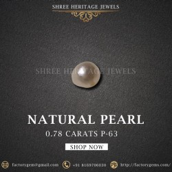 0.78-Carat Beautiful and Natural Creamy White Pearl