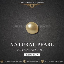 0.92-Carat Beautiful and Natural Creamy White Pearl