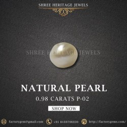 0.98-Carat Beautiful and Natural Creamy White  Pearl