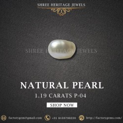 1.19-Carat Beautiful and Natural Creamy White Pearl