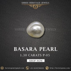 1.30-Carat Beautiful and Natural Creamy White  Pearl