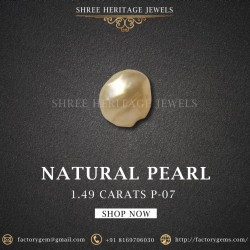 1.49-Carat Beautiful and Natural Creamy White Fancy Pearl