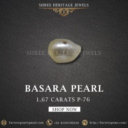 1.67-Carat Beautiful and Natural Creamy White  Pearl