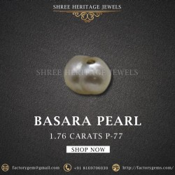 1.76-Carat Beautiful and Natural Creamy White  Pearl