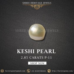 2.85-Carat Creamy White Baroque Bead Pearl from the Keshi River